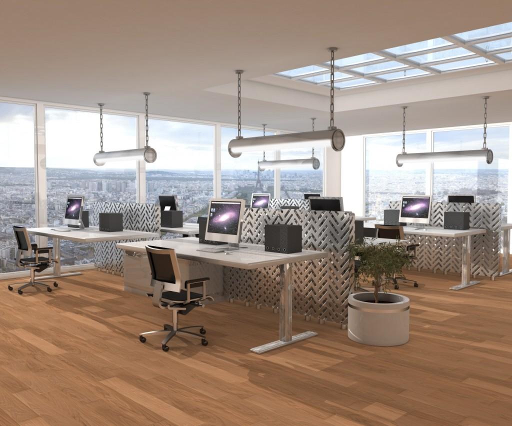 Éclairage adapté aux postes de travail : Éclairage pour bureaux.